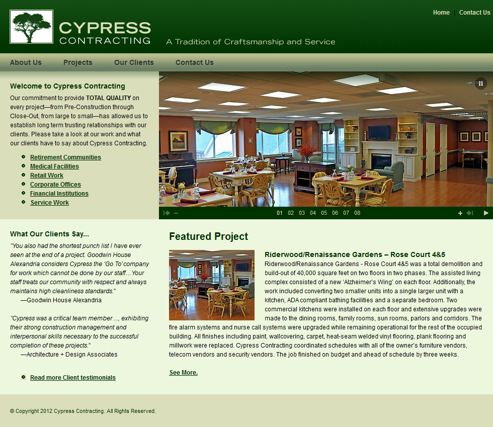 Cypress Contracting Homepage