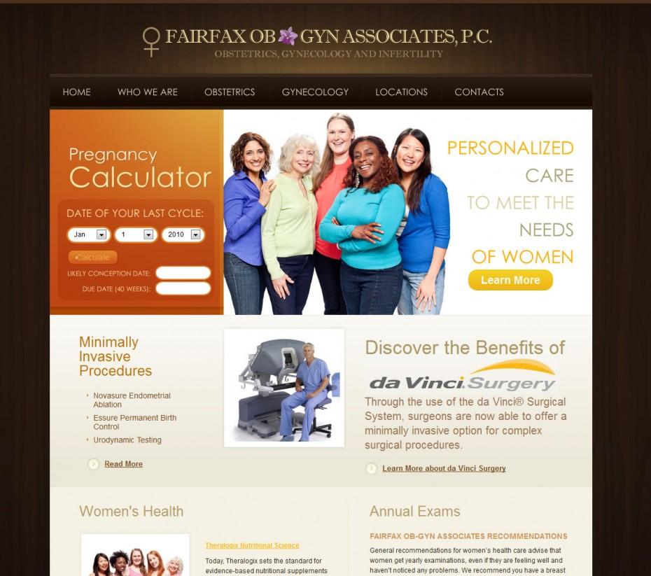 Fairfax OB-GYN Homepage