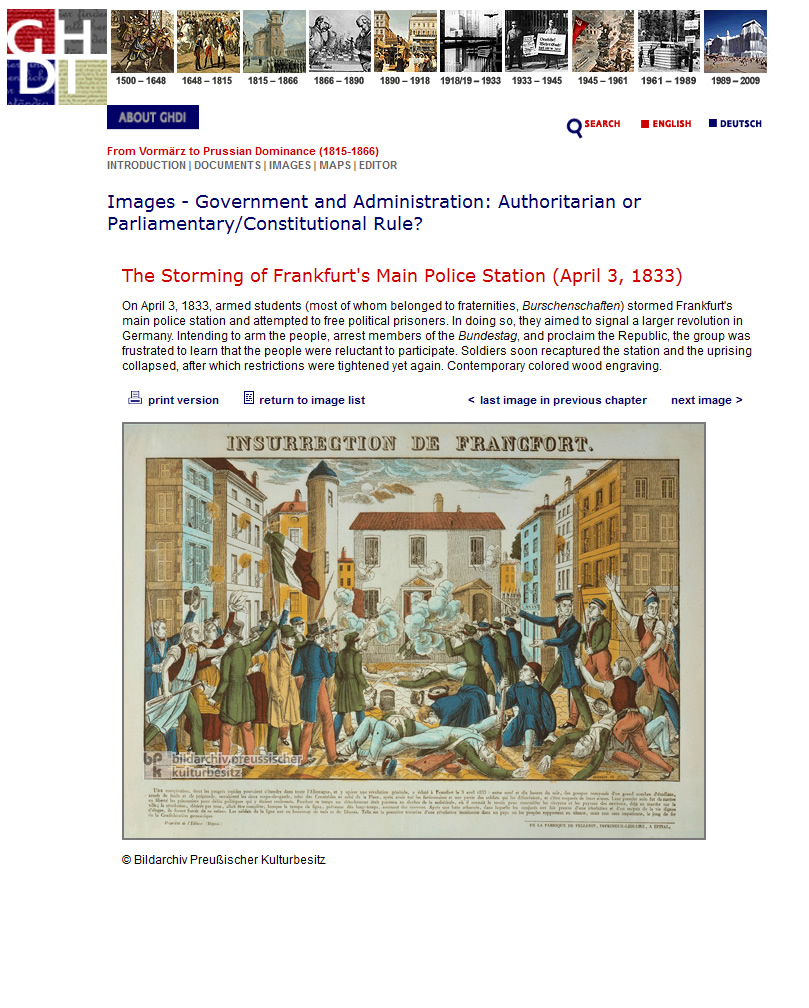 German History in Documents and Images - Image Page