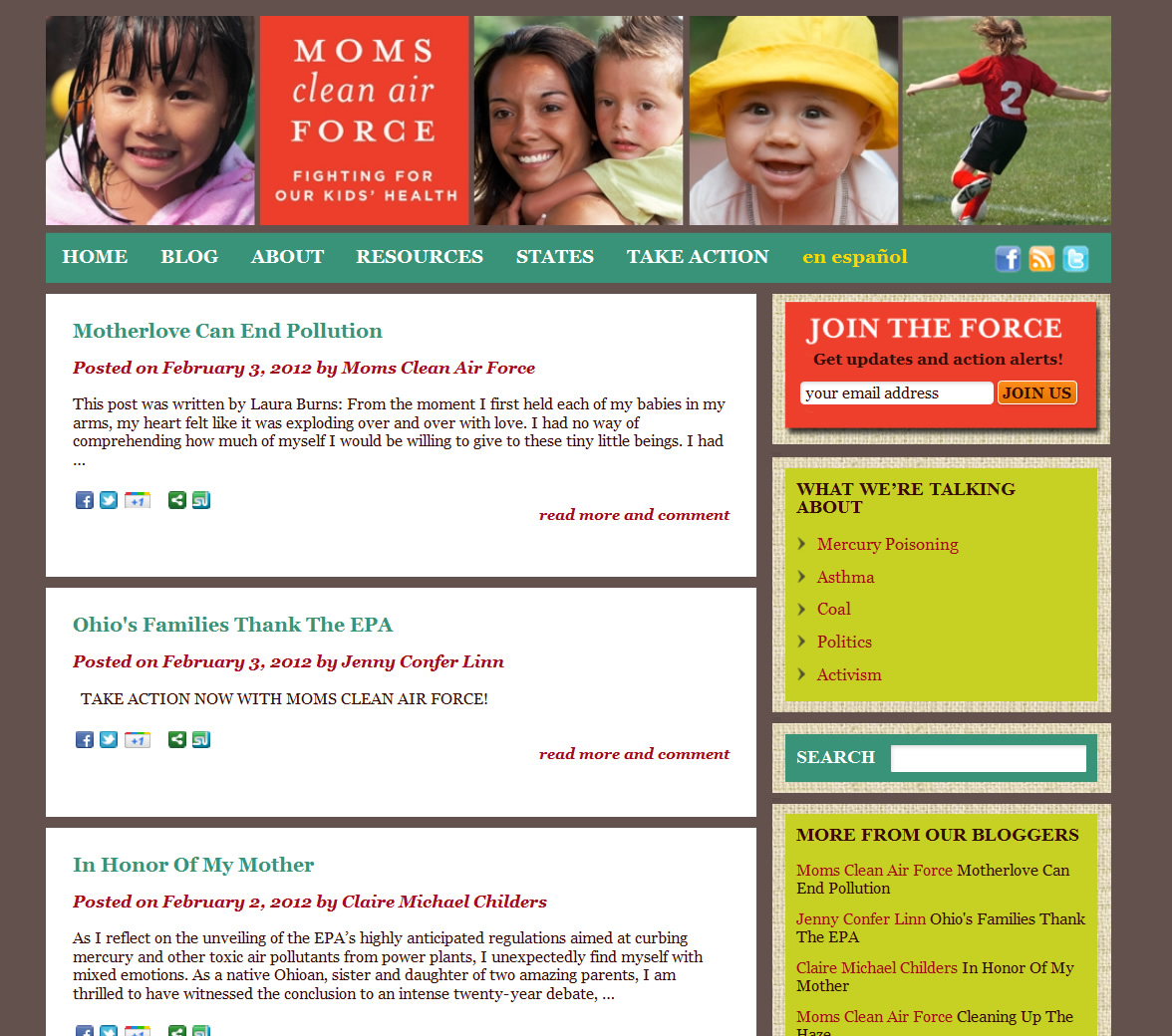 Moms Clean Air Force Blog Page