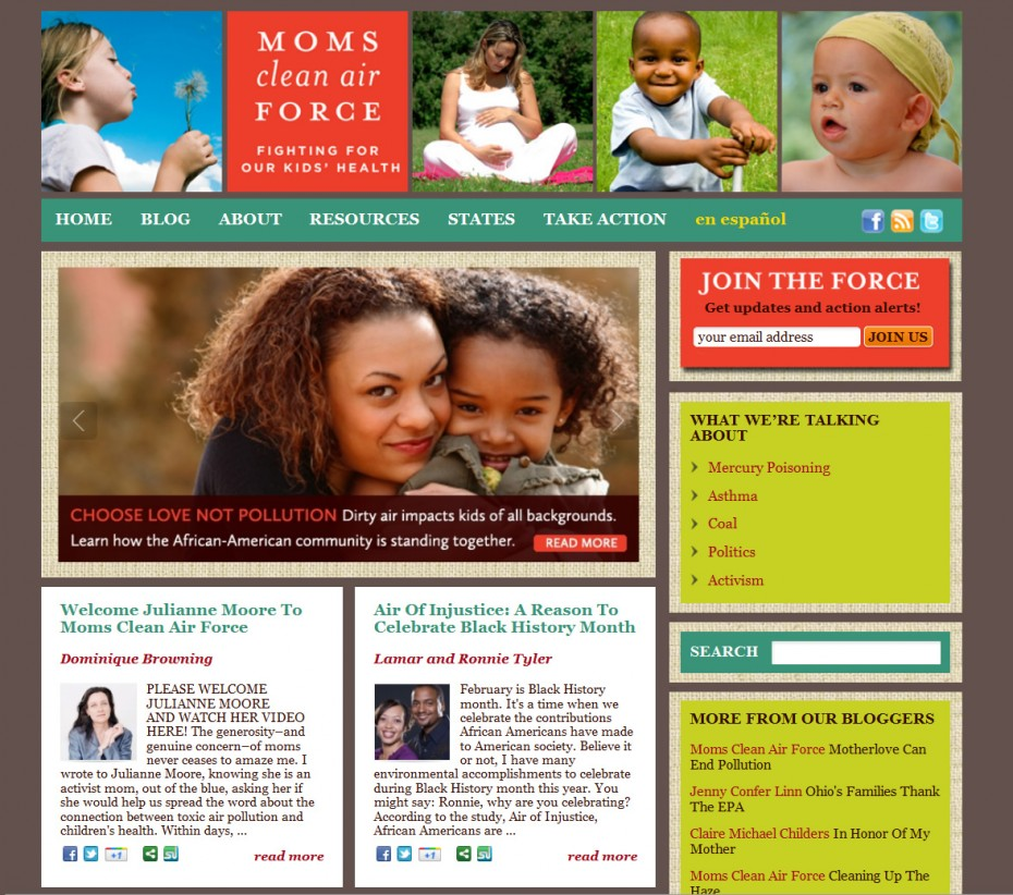 Moms Clean Air Force Homepage