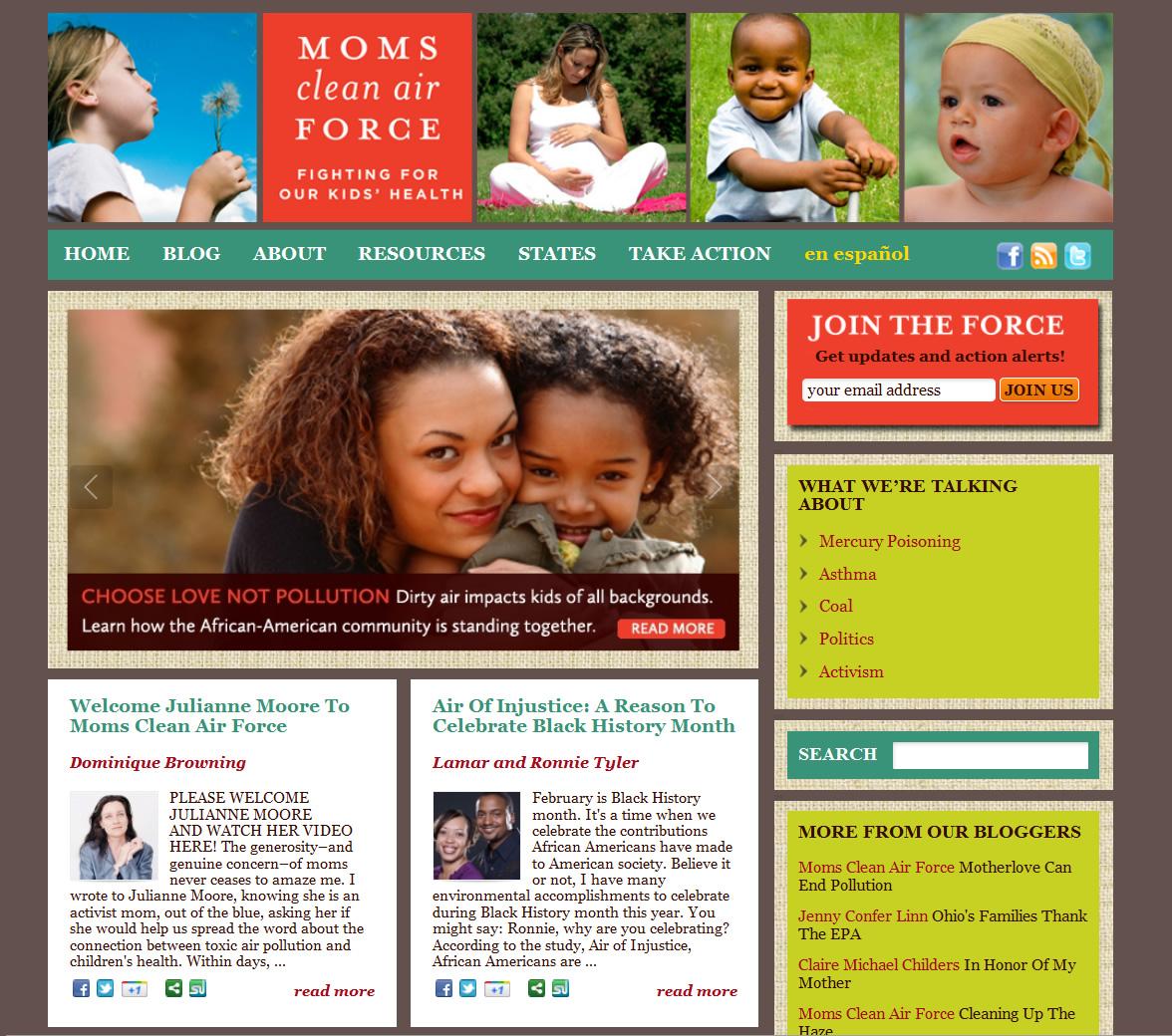 Moms Clean Air Force Homepage