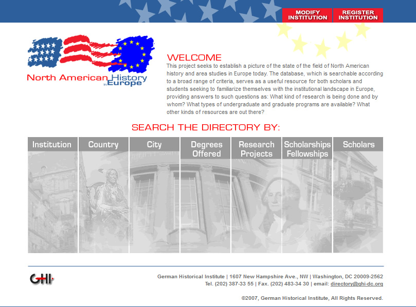 North American History in Europe Home Page