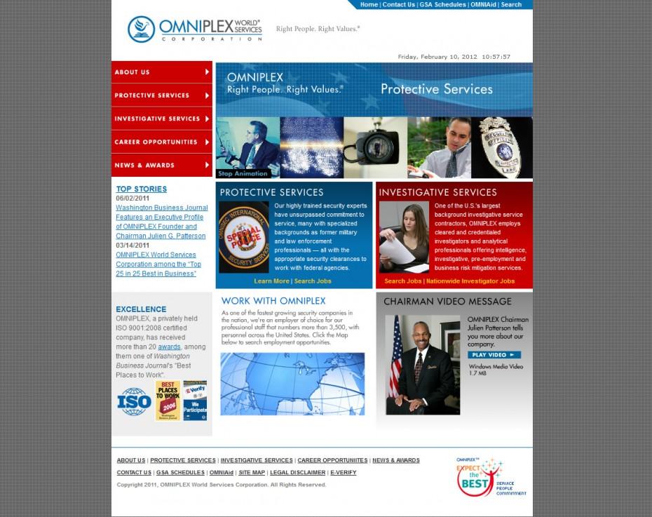 OMNIPLEX World Services Homepage