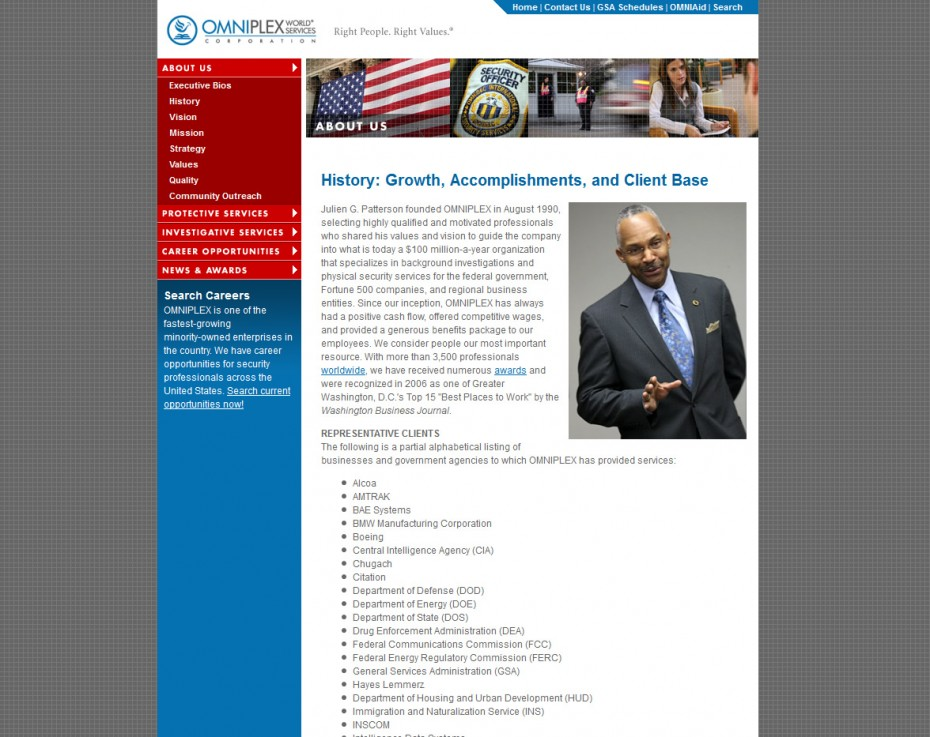 OMNIPLEX World Services Interior Page