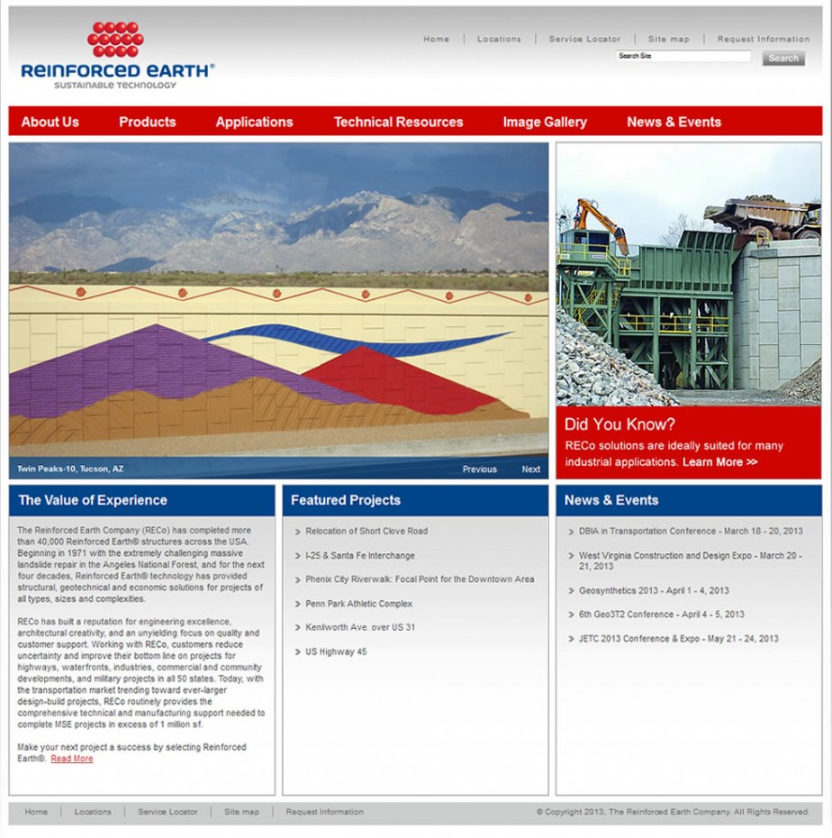 Reinforced Earth homepage