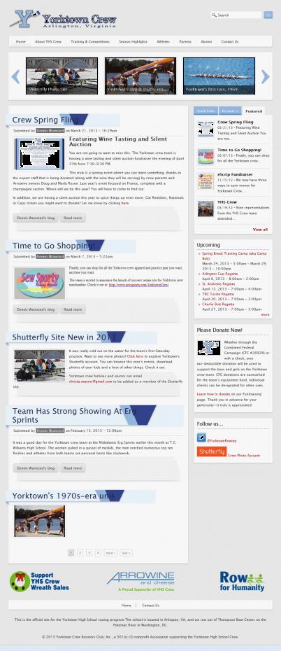Yorktown Crew Boosters Homepage